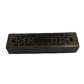 Hộp đựng đũa - hộp đựng quà lưu niệm bằng gỗ Trắc đen cao cấp