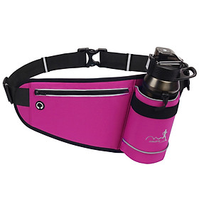 Outdoor Sports Hydration Waist Belt Bag with Water Bottle Holder for Jogging Running Hiking Camping Cycling Walking