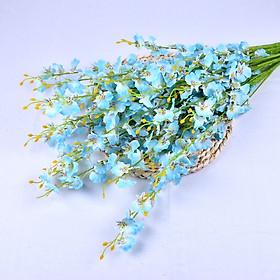 Nhánh Hoa Lan vũ nữ lụa giả hoa nhân tạo dài 1 mét 5 nhánh cắm bình hoa