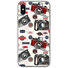Ốp lưng dành cho iPhone X  mẫu Máy ảnh đỏ đen