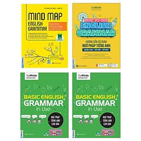 COMBO 3 QUYỂN SÁCH NGỮ PHÁP TIẾNG ANH ( Ngữ pháp tiếng anh căn bản - Hướng dẫn sử dụng ngữ pháp tiếng Anh - Mindmap English Grammar Ngữ pháp tiếng Anh bằng sơ đồ tư duy)