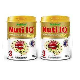 Combo 2 hộp Nuti IQ Gold Step 3 900 gr : sữa tăng cường DHA cho trẻ 1-2 tuổi phát triển trí não, thị giác