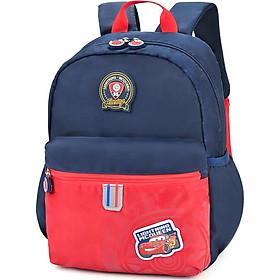 Disney kindergarten bag children's backpack 3-6 preschool class bag boy car baby travel bag DB96183-1E (blue)