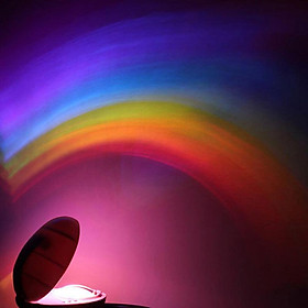 Small Rainbow Projection Lamp LED Colorful Night Light Creative Children Room Decoration