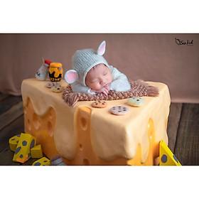 Chụp ảnh cho bé sơ sinh tại Sankid Studio - Gói chuột vàng
