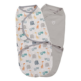 Bộ 2 Chăn Quấn Bohemian  Jungle Uni Summer Infant (Original Swaddle - Bohemian Jungle Uni- Small - 2Pk Bag)