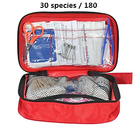 180PCS/Set 30 Kinds First Aid Kit Emergency Bag Home Car Outdoor Guide Kit
