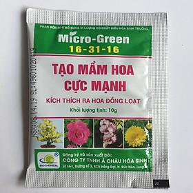05 gói Phân bón Micro Green 16-31-16 giúp tạo mầm hoa cực mạnh - kích thích ra hoa đồng loạt