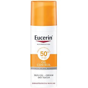 Combo Eucerin Kem Chống Nắng Da Nhờn Mụn Sun Gel-Cream Dry Touch Oil Control SPF50+ (50ml) & Nước Tẩy Trang Cho Da Mụn (200ml)