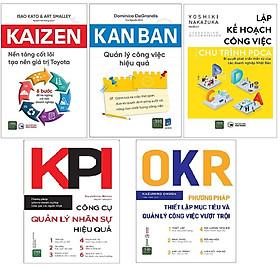 Combo 5 Cuốn Sách PDCA +OKR + KANBAN + KPI + Kaizen