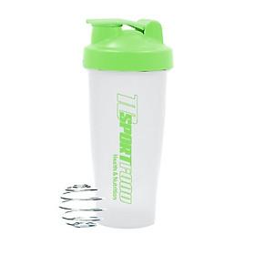 Bình lắc Shaker pha sữa cho người tập GYM hiệu TCSPORTFOOD - Bình nước thể thao Shaker 600 ml - Trắng nắp xanh lá