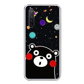 Ốp lưng điện thoại Realme 5 Pro - Silicon dẻo - 0345 BEAR03 - Hàng Chính Hãng