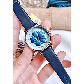 Đồng hồ nữ thời trang dây da Julius JA1000 Xanh dương nổi bật
