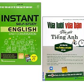 Bộ Sách Vừa Lười Vừa Bận + Tiếng Anh Giao Tiếp Hàng Ngày (Bộ 2 Cuốn)