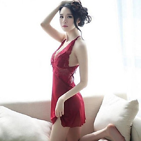 Váy ngủ ren sexy quai chéo lưng Cao cấp MS1710