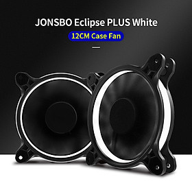 JONSBO Eclipse PLUS White Computer Cooling Fan 12CM Chassis Case Fan with Hydraulic Bearing 25 Lamp Beads LED Light