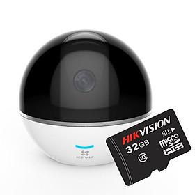 Camera IP Wifi Ezviz C6T CS-CV248 + Thẻ nhớ Hikvision 32GB - Hàng chính hãng