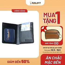 Ví Nam Bóp Nam Đứng Da Bò Thật Handmade Galaxy Store GVN - Hàng Chính Hãng