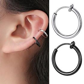 Khuyên tròn kẹp tai, mũi, môi không cần bấm lỗ cho nam & nữ