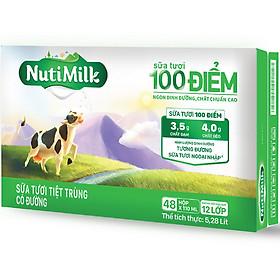 Biểu đồ lịch sử biến động giá bán Thùng 48 Hộp NutiMilk Sữa Tươi 100 Điểm - Sữa Tươi Tiệt Trùng Có Đường Hộp 110ml