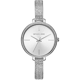 Michael Kors Women's Jaryn Watch Analog-Quartz Stainless-Steel Strap, Silver, 8 (Model: MK3783)