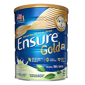 2 Hộp Sữa Bột Ensure Gold HMB Trà Xanh 850g