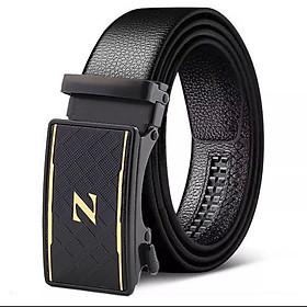 Dây thắt lưng, dây nịt nam khóa tự động dây da bền đẹp hàng hiệu cao cấp TOPEE - Phong cách Manly TZV28