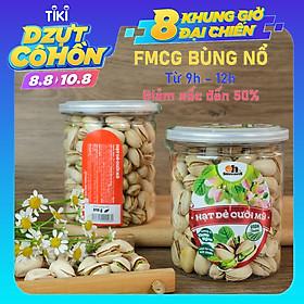 Hạt Dẻ Cười Mỹ Smile Nuts (215g - 500g)   100% Nhập khẩu từ Mỹ, không tẩy trắng - Dẻ cười rang muối vừa ăn, thơm ngon, giòn rụm
