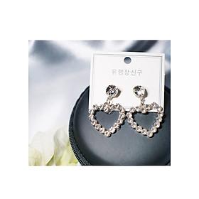 Hình đại diện sản phẩm Bông tai Hàn Quốc - Hoa tai đẹp sang chảnh - Khuyên tai đi dự tiệc, đám cưới, sinh nhật xinh xắn - Mẫu 38