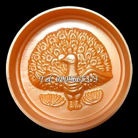 Khuôn ép xôi, khuôn trung thu con công xòe đuôi – Mã số 1457