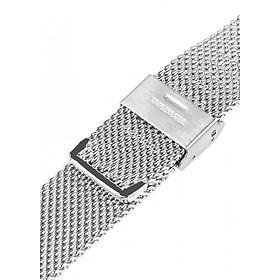 Dây đeo đồng hồ kim loại dạng bấm khóa thép không gỉ