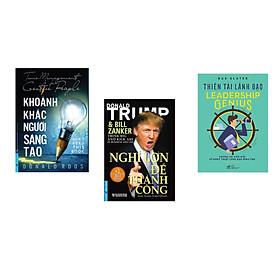 Combo 3 cuốn sách: Khoảnh Khắc Người Sáng Tạo + Nghĩ Lớn Để Thành Công + Thiên tài lãnh đạo