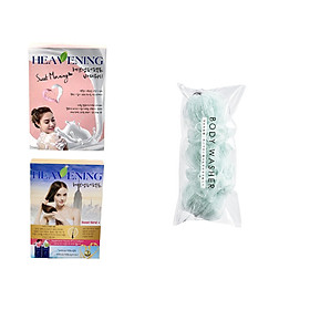 Bộ 03 sản phẩm 01 sữa tắm và 01 dầu gội + 01 xả Heavening tặng kèm bông tắm tạo bọt dài 30cm - Hàng nội địa Hàn Quốc.