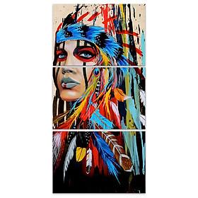 Tranh Trang Trí Tường Hình Thổ Dân Châu Mỹ