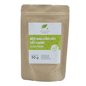 Bột cần tây sấy lạnh Celadetox nguyên chất- 100% tự nhiên- Túi zip 50 g( giúp thanh lọc cơ thể, thải độc tố, hỗ trợ giảm cân)
