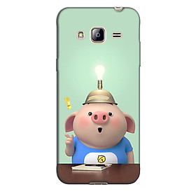 Ốp lưng nhựa cứng nhám dành cho Samsung Galaxy J3 2016 in hình Heo Bóng Đèn