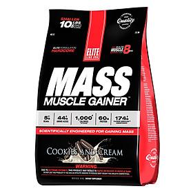 Sữa Uống Tăng Cơ Tăng Cân Vị Bánh Quy EL104 Elite Labs Mass Muscle Gainer Cookies EL104 (9kg)