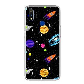 Ốp điện thoại Realme 3 Pro - 0063 SPACE04 - Silicon dẻo - Hàng Chính Hãng