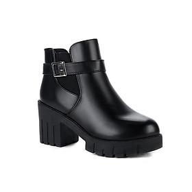 Giày Boot nữ đế thô B095Den