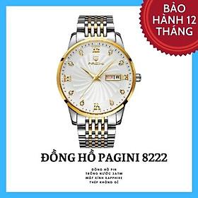 Đồng Hồ Nam Cao Cấp Chính Hãng Pagini PA 8222 Dây Thép Không Gỉ - Chống Nước 3ATM - Kim Dạ Quang Thời Thượng