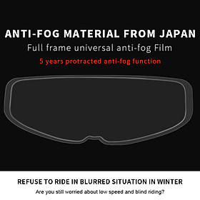 Motorcycle Helmet Anti Fog Film Full Helmet Lens Anti Fog Sticker Helmet General Anti Fog Film Models:Anti-fog sticker