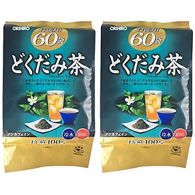 Combo 2 Túi Trà thải độc diếp cá Dokudami Orihiro Nhật Bản (túi 60 gói)