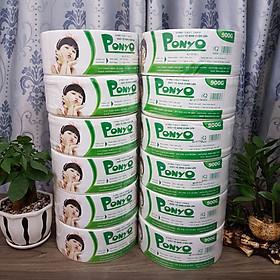 Combo 12 cuộn giấy vệ sinh cuộn lớn 900g PONYO