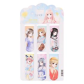 Bộ 6 Đánh Dấu Sách Bookmark Totoro & Friends (6 x 2 cm)