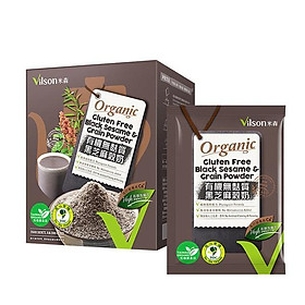 Sữa mè đen hữu cơ không chứa gluten Vilson (25gx8 gói/ hộp)