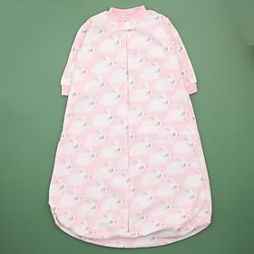 Túi ngủ chất băng lông kéo khóa hình thỏ hồng cho bé
