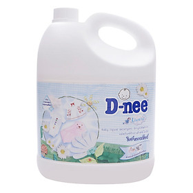 Dung Dịch Giặt Quần Áo Cho Bé D-Nee - Chai 3000ml (Trắng)