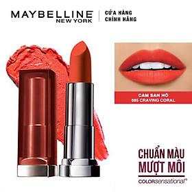 Son Lì Siêu Nhẹ Môi Maybelline New York Color Sensational Creamy Mattes 4.2g - Màu 685 Cam San Hô Craving Coral