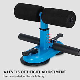 Portable Sit Up Bar with Double Suction Cups Push Up Trainer with 4 Adjustable Heights Muscle Training Equipment-4