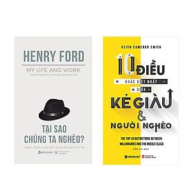 Combo Sách Thoát Nghèo ( Tại Sao Chúng Ta Nghèo? + 10 Điều Khác Biệt Nhất Giữa Kẻ Giàu Và Người Nghèo ) tặng kèm bookmark Sáng Tạo